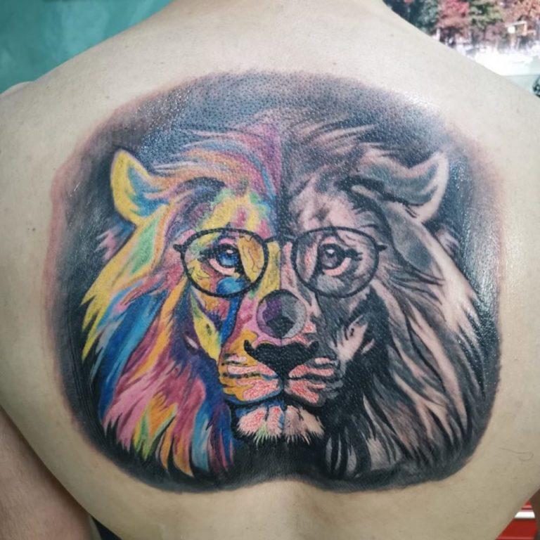tatuaj color tatuaj spate maneca Salon tatuaje si piercing Funky tattoo bucuresti