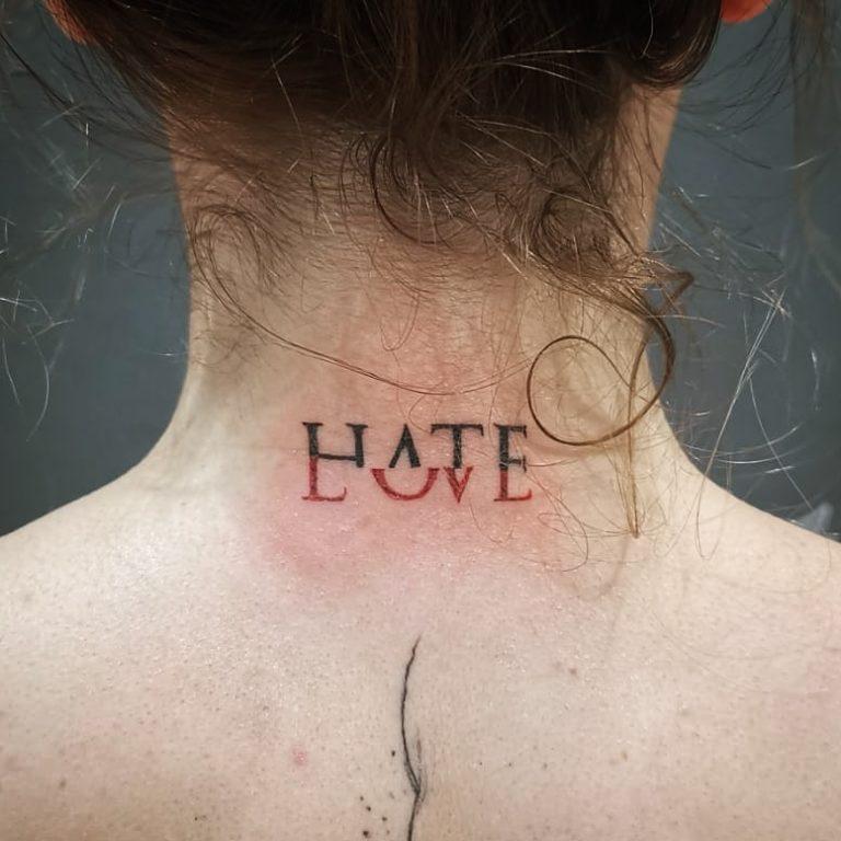 tatuaj scris Salon tauaje si piercing Funky Tattoo Bucuresti