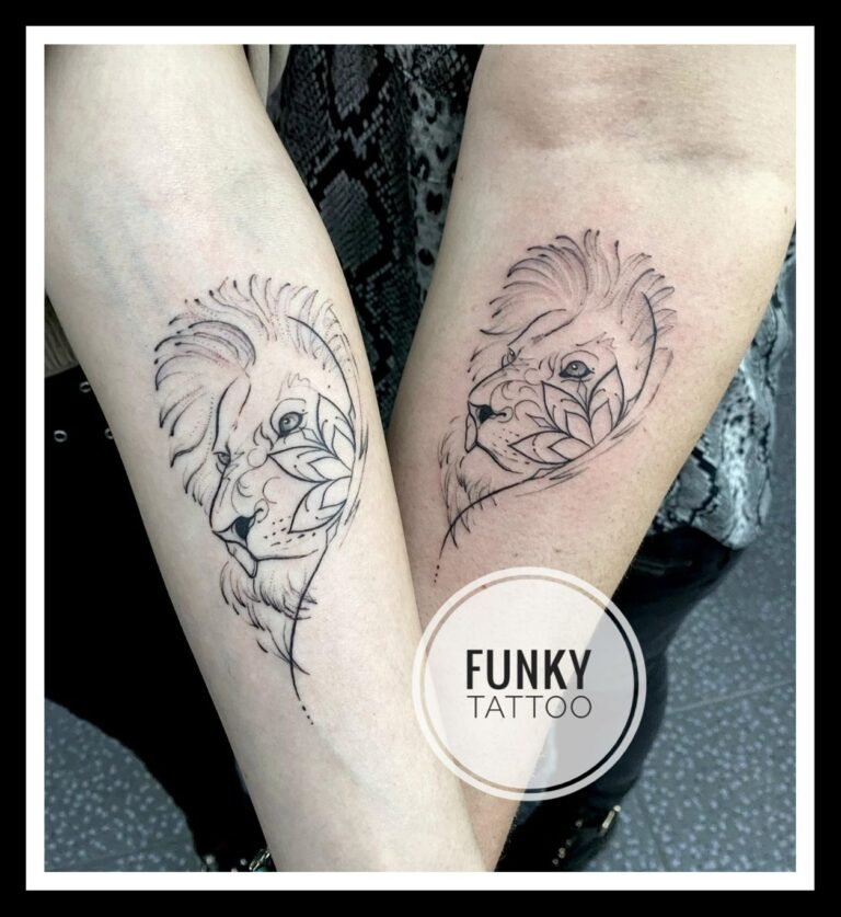 tatuaj cuplu mana linework alb negru lei cercuri puncte linii schita salon tatuaje si piercing Funky tattoo Bucuresti