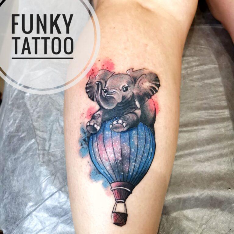 Tatuaj elefant color pe mana arm girl tattoo elephant tatuaj fete funky tattoo bucuresti salon tatuaj saloane tatuaje