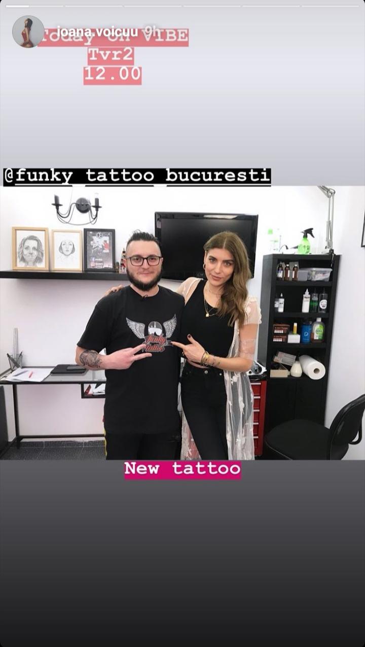 Ioana Voicu TVR la Salon Tatuaje Funk Tattoo Bucuresti